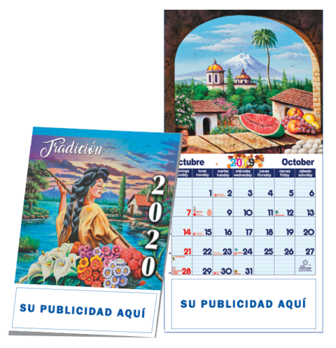 CALENDARIO MULTIPLE ORGANIZADOR ENGRAPADO